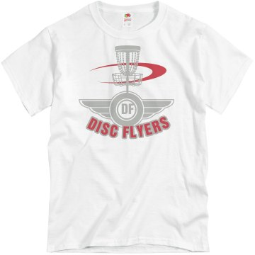 Disc Flyers Unisex Basic Gildan Heavy Cotton Crew Neck Tee