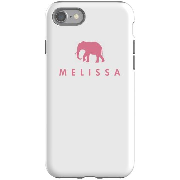 Melissa Loves Elephants Rubber iPhone 4 & 4S Case Black