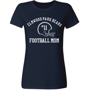 Football Mom Misses Relaxed Fit Gildan Heavy Cotton Tee
