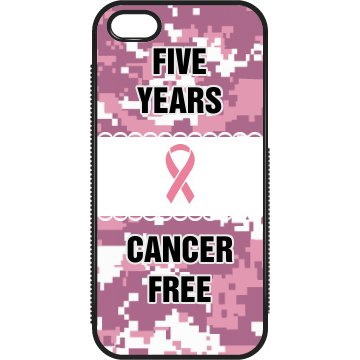 Cancer Free iPhone Case Plastic iPhone 5 Case Black