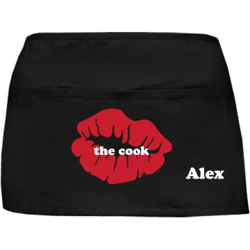 Kiss The Cook Port Authority Waist Apron with Pockets
