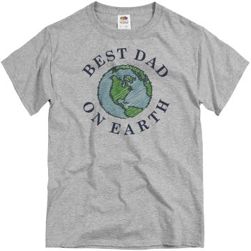 Best Dad On Earth Unisex Gildan Ultra Cotton Long Sleeve Tee