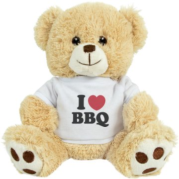 I Love BBQ Pork Plush Pink Piggie