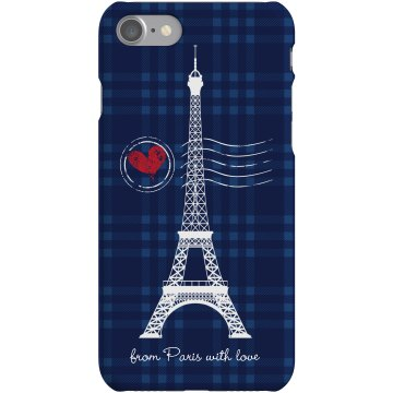 From Paris With Love Plastic iPhone 5 Case White