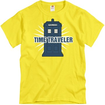Time Traveler Unisex Gildan Heavy Cotton Crew Neck Tee