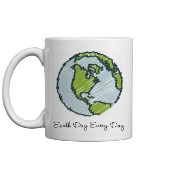 Earth Day Every Day 11oz Plastic Coffee Mug