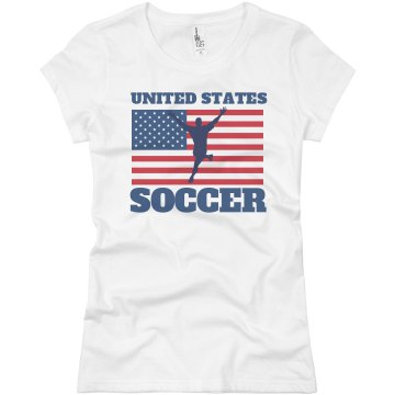 USA Soccer Junior Fit Basic Bella Favorite Tee