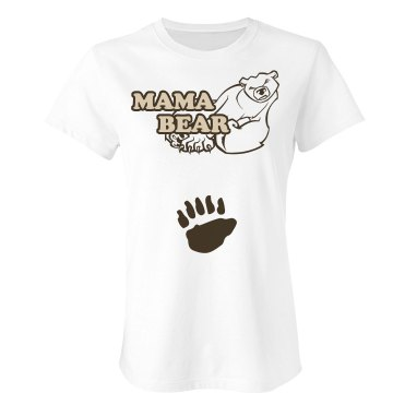 Mama Bear Junior Fit Bella Sheer Longer Length Rib Tee