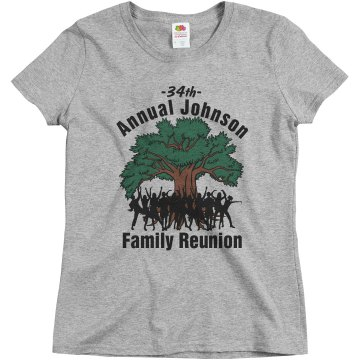 Johnson Family Reunion Misses Relaxed Fit Basic Gildan Ultra Cotton Tee