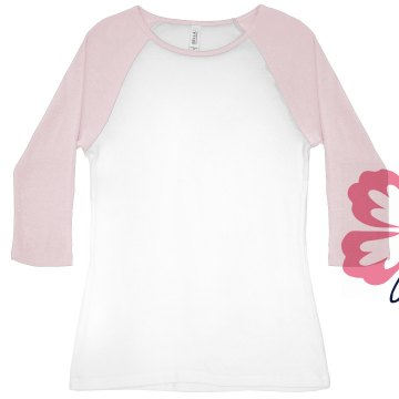 Aloha Honeymoon Distress Junior Fit Bella 1x1 Rib 3/4 Sleeve Raglan Tee