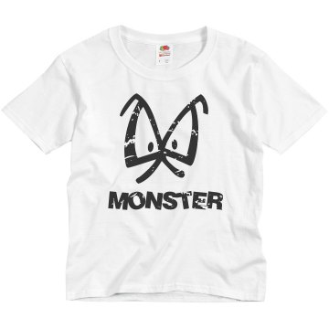 Kid Monster Youth Anvil 3/4 Sleeve Raglan Baseball Tee