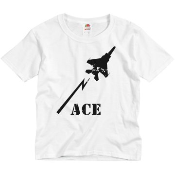 Kids Airforce Distressed Youth Anvil 3&#x2F;4 Sleeve Raglan Baseball Tee