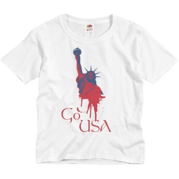 Kids Go USA Youth Anvil 3/4 Sleeve Raglan Baseball Tee