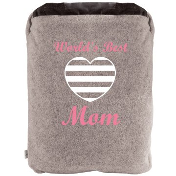 World's Best Mom Blanket 2-in-1 Poly Fleece Pillow Blanket