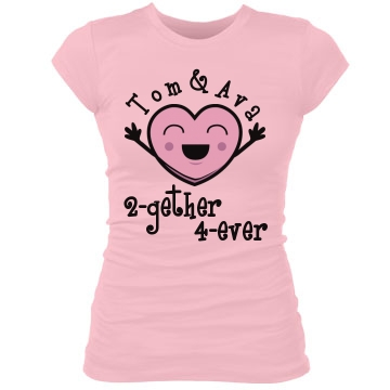 2-gether, 4ever Junior Fit Bella Sheer Longer Length Rib Tee