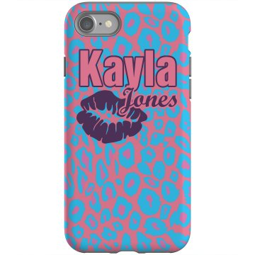 Name And Kiss Case Rubber iPhone 4 & 4S Case Black