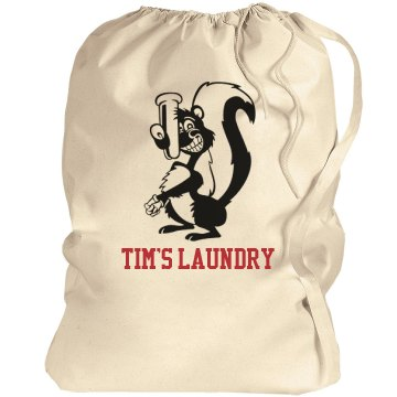 Tim's Skunky Laundry Port Authority Laundry Bag