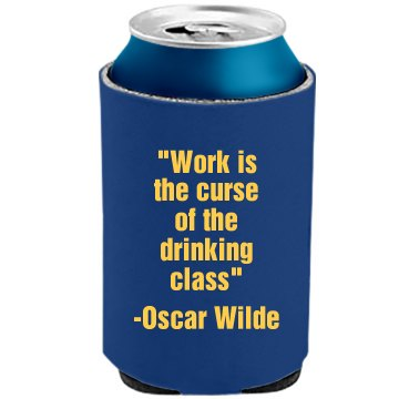 Wise Oscar Wilde The Official KOOZIE Can Kooler