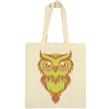 Cute Owl Day Tote Liberty Bags Canvas Bargain Tote Bag