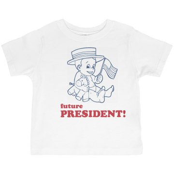 Future Toddler President Toddler Basic Gildan Ultra Cotton Crew Neck Tee