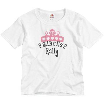 Princess Kally Girls Tee Youth Basic Gildan Ultra Cotton Crew Neck Tee