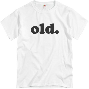 old Unisex Basic Gildan Heavy Cotton Crew Neck Tee