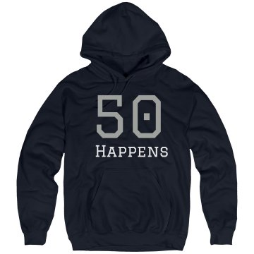 50 Happens Unisex Hanes Ultimate Cotton Heavyweight Hoodie