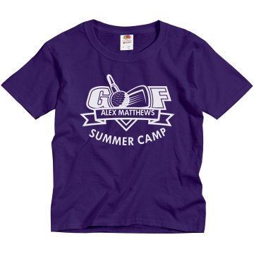 Golf Summer Camp Youth Gildan Ultra Cotton Crew Neck Tee