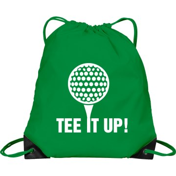 Tee It Up Bag Port &amp; Company Drawstring Cinch Bag