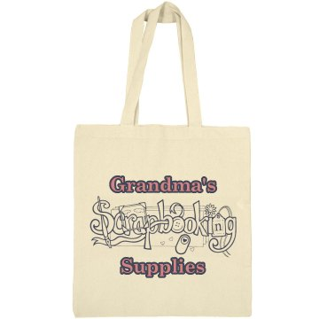 Grandma's Scrapbooking Liberty Bags Canvas Bargain Tote Bag