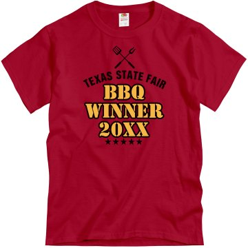 State Fair BBQ Winner Unisex Gildan Heavy Cotton Crew Neck Tee