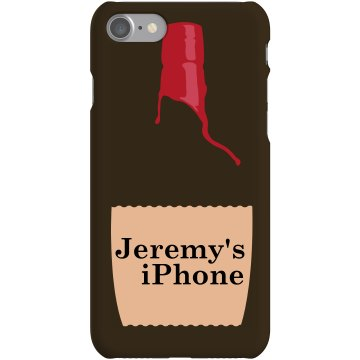Bourbon iPhone Case Plastic iPhone 5 Case Black