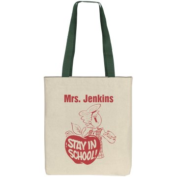 Teacher Tote Liberty Bags Cotton Canvas Tote