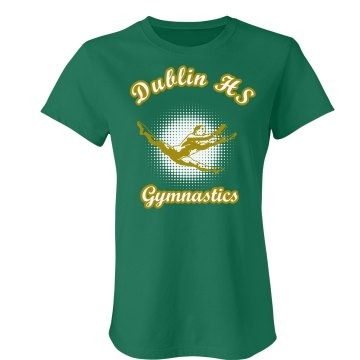 Dublin HS Gymnastics Junior Fit Bella Crewneck Jersey Tee