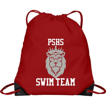 Swim Team Custom Mascot Port & Company Drawstring Cinch Bag