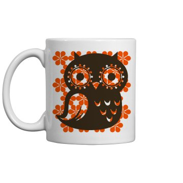 Vintage Design Owl Mug 11oz Ceramic Coffee Mug