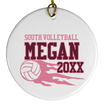 Volleyball Ornament Plastic Ball Ornament