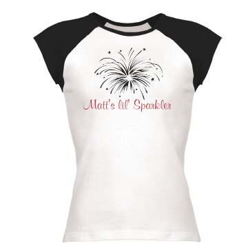 Matt&#x27;s Lil&#x27; Sparkler Junior Fit Bella 1x1 Rib Ringer Tee