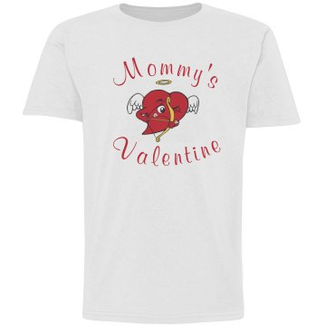 Mommy's Valentine Youth Basic Gildan Ultra Cotton Crew Neck Tee