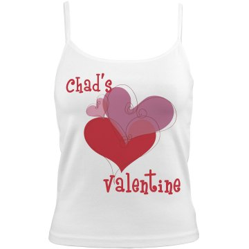 Chad&#x27;s Valentine Bella White Basic Junior Fit Camisole