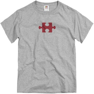 Missing Puzzle Piece Unisex Basic Gildan Heavy Cotton Crew Neck Tee