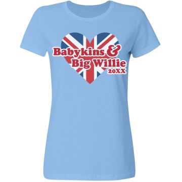 Babykins And Big Willie Misses Relaxed Fit Gildan Ultra Cotton Tee