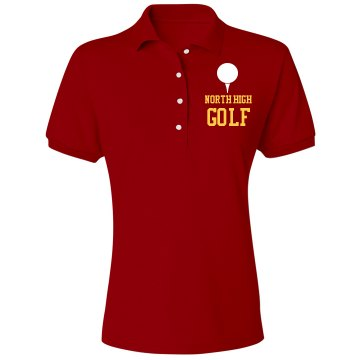 North High Golf Misses Relaxed Fit IZOD Silkwash Stretch Polo