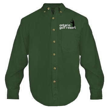 Ontario Golf Resort Unisex Sierra Pacific Long Sleeve Rugged Button Down