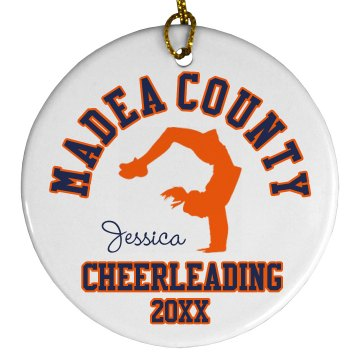 Cheerleading Ornament Plastic Ball Ornament