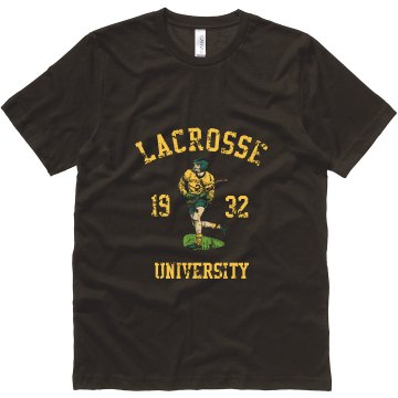 Vintage Lacrosse U Unisex Canvas Jersey Tee
