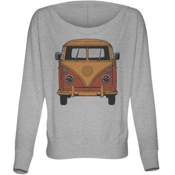 Fast Times Bus Top Misses Bella Flowy Lightweight Relaxed Dolman Tee
