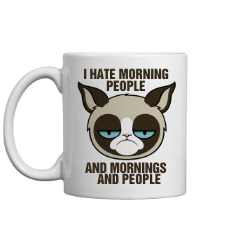 A Grumpy Cat's Morning 11oz Ceramic Coffee Mug