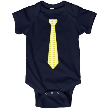 Yellow Long Tie Infant Rabbit Skins Lap Shoulder Creeper
