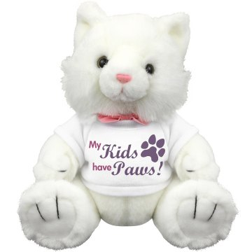 My Cat Kids Have Paws Plush Kitty Cat